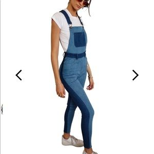 Denim - SSO by Danielle Two Tone High Rise Skinny Overall